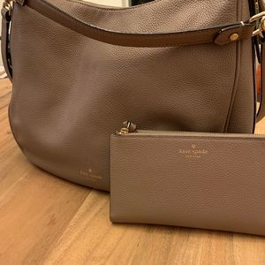 Kate Spade Hobo Purse and Matching Wallet